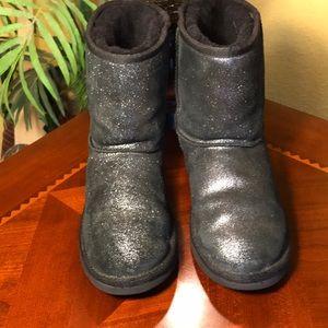 626eb76d2d4 UGG Sparkle Black Metallic Classic Short Boots
